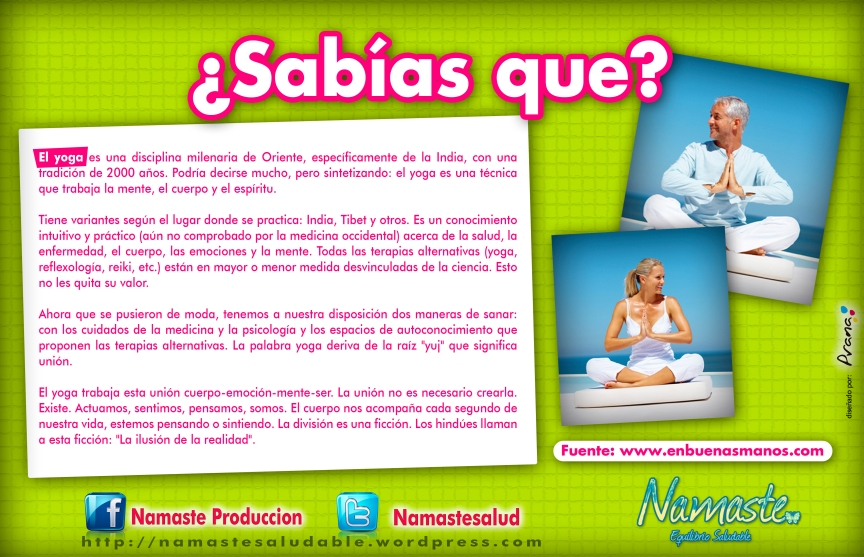 SABIAS QUE - yoga