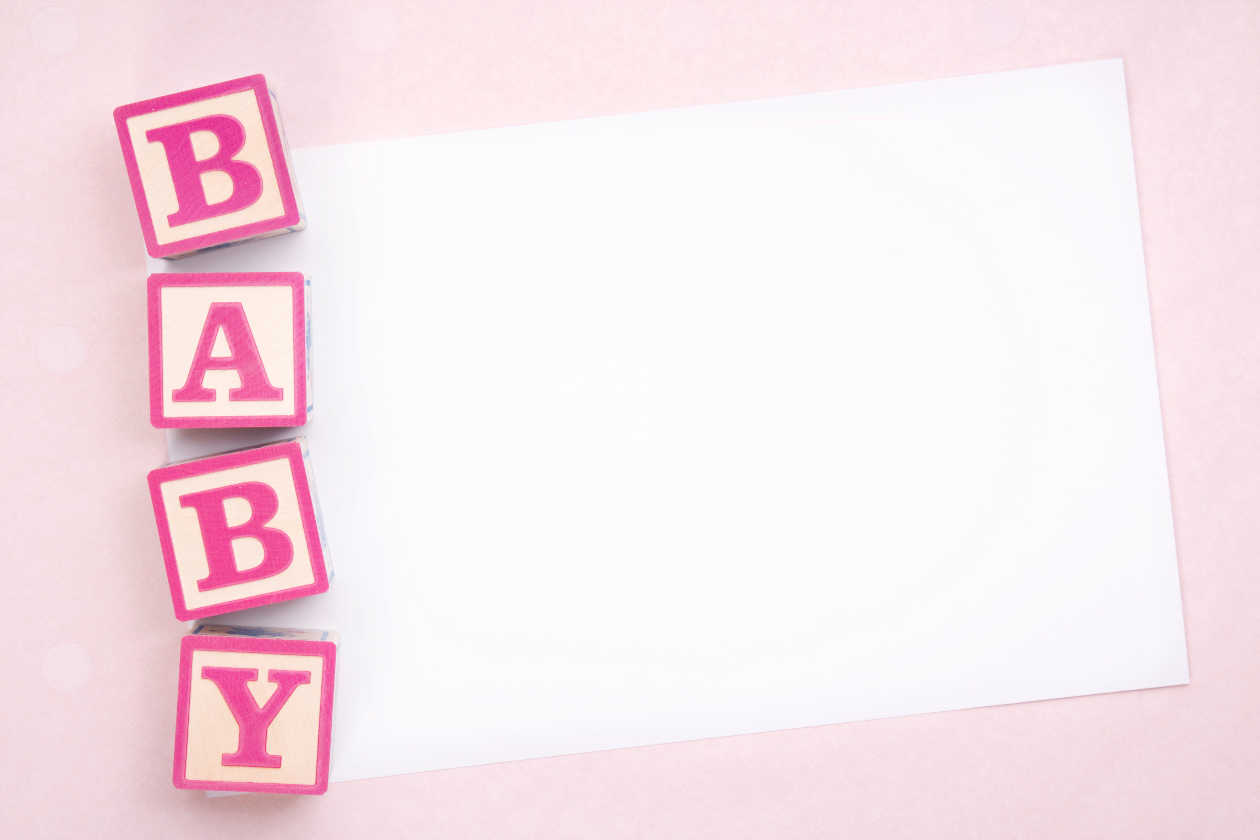 Blank Baby Shower Announcements